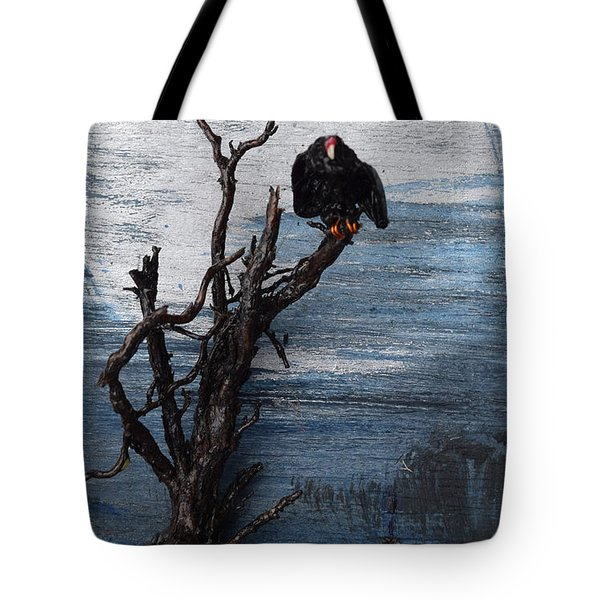 Vulture With Blue Moon Tote Bag