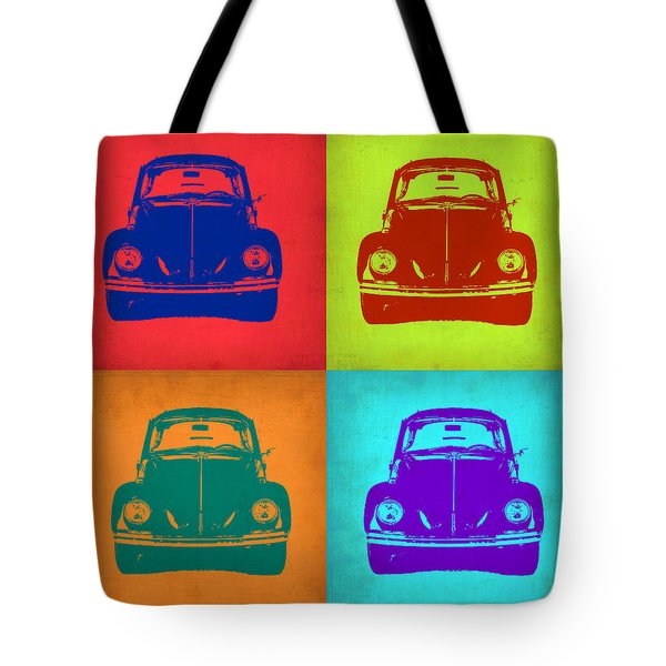 Vw Beetle Pop Art 5 Tote Bag by Naxart Studio