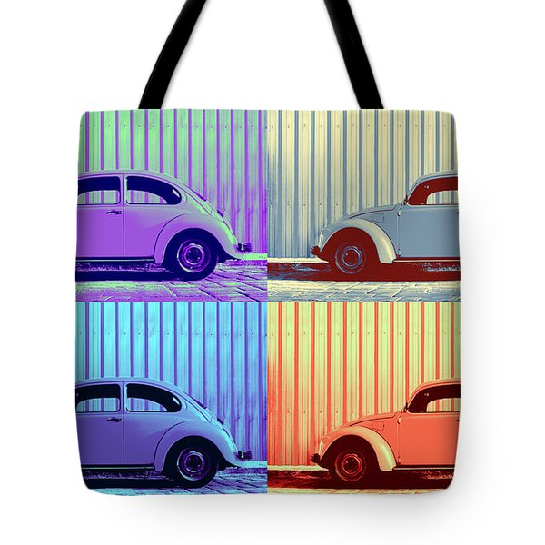 Vw Pop Winter Tote Bag by Laura Fasulo