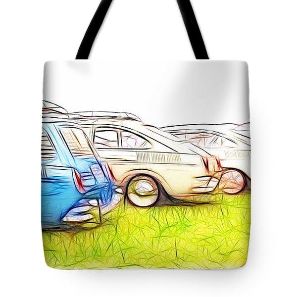 Vw Squareback Art Tote Bag