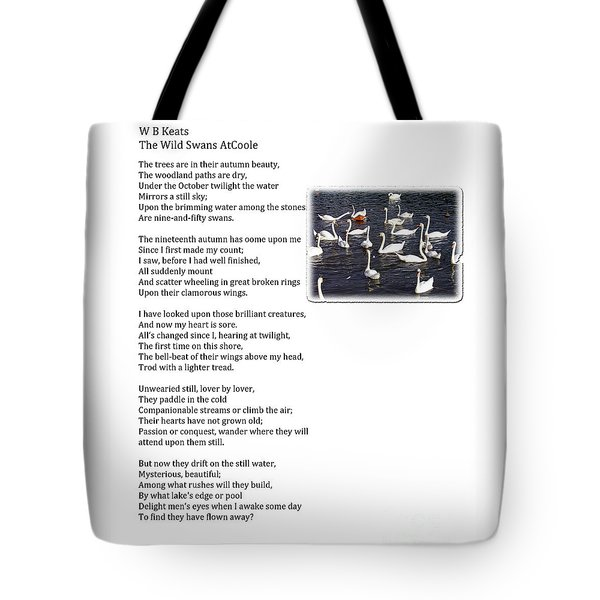W B Keats - The Wild Swans At Atcoole Tote Bag