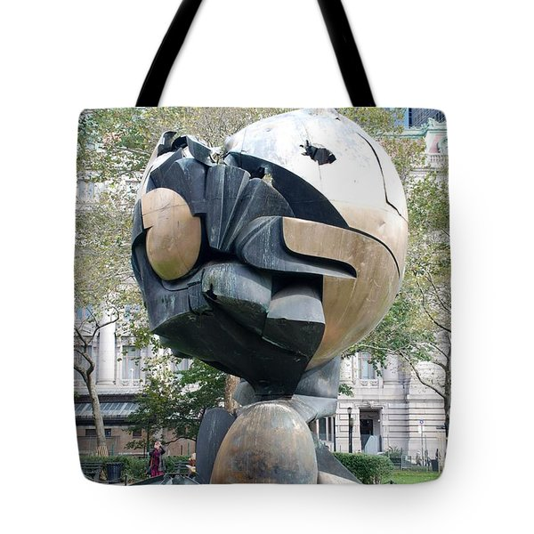 W T C Fountain Sphere Tote Bag by Rob Hans