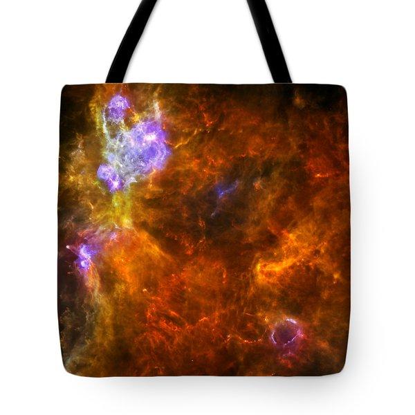 W3 Nebula Tote Bag