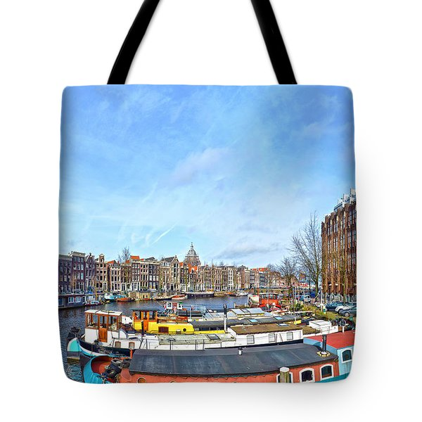 Tote Bag featuring the photograph Waalseilandgracht Amsterdam by Frans Blok