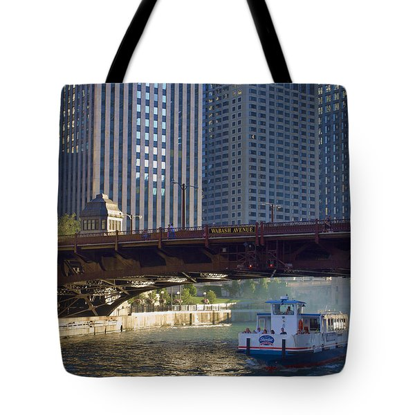 Tote Bag featuring the photograph Wabash Street Bridge by John Hansen