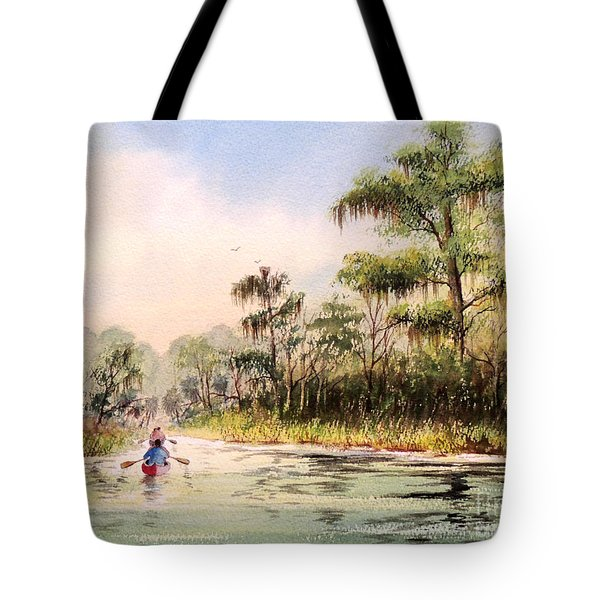 Wacissa River  Tote Bag by Bill Holkham