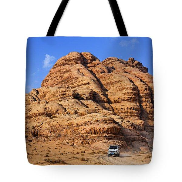 Wadi Rum In Jordan Tote Bag by Robert Preston