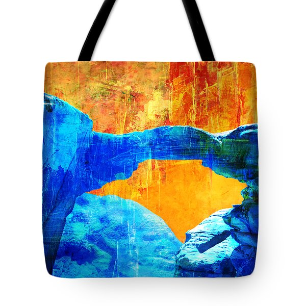 Wadi Rum Natural Arch 2 Tote Bag by Catf
