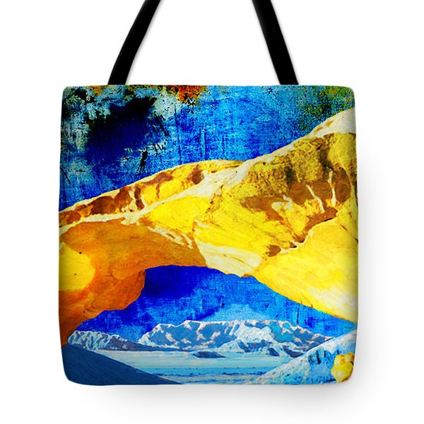 Wadi Rum Natural Arch Tote Bag by Catf