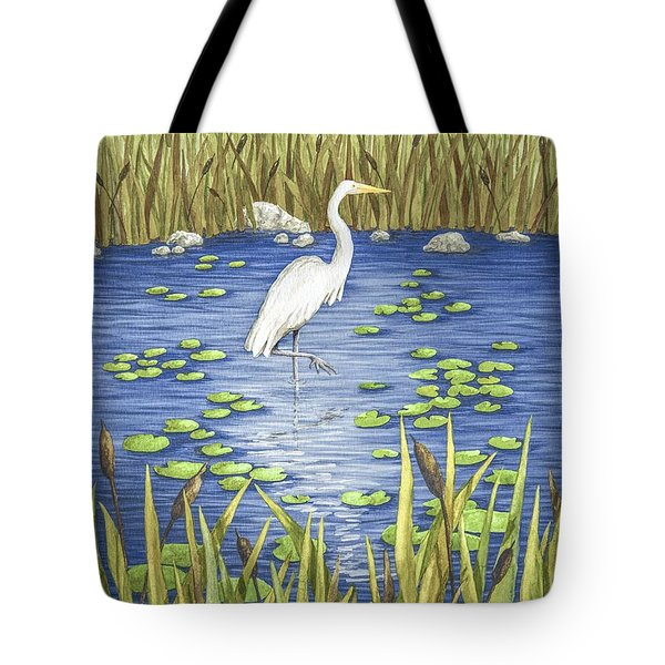 Wading And Watching Tote Bag by Katherine Young-Beck