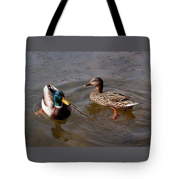Wading Ducks Tote Bag