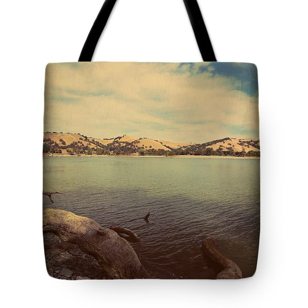 Wading Into The Cold Water Tote Bag by Laurie Search