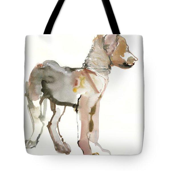 Waggle Arabian Wolf Pup Tote Bag