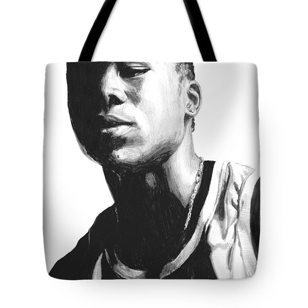 Tote Bag featuring the drawing Wagner by Tamir Barkan