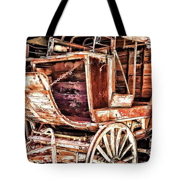 Tote Bag featuring the painting Wagon by Muhie Kanawati