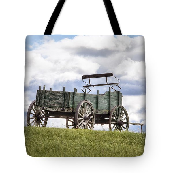 Wagon On A Hill Tote Bag