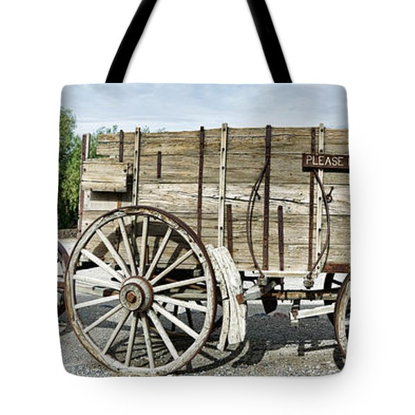 Wagons Loaded With Borax, Death Valley Tote Bag