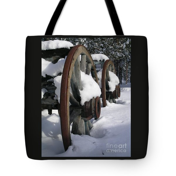 Tote Bag featuring the photograph Wagons West by Jennifer Lake