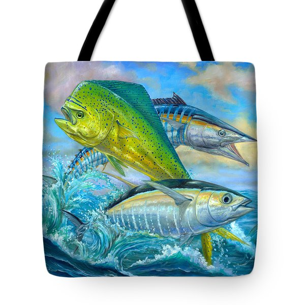 Wahoo Mahi Mahi And Tuna Tote Bag