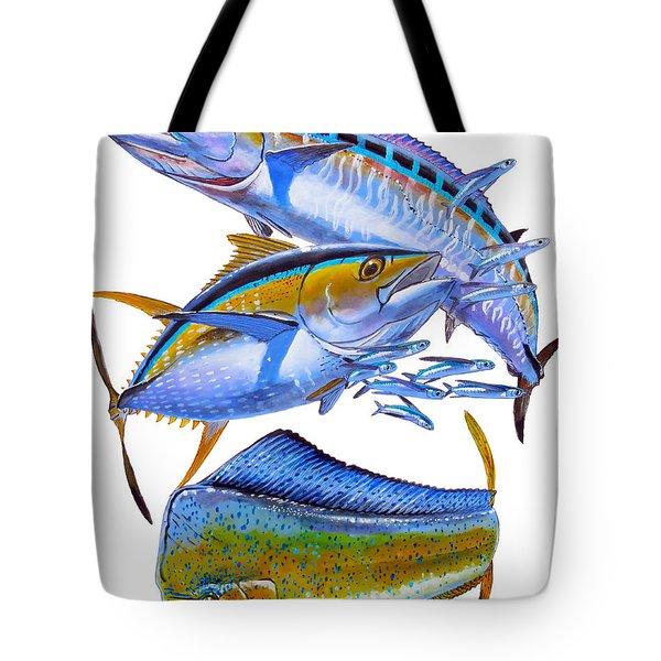 Wahoo Tuna Dolphin Tote Bag by Carey Chen