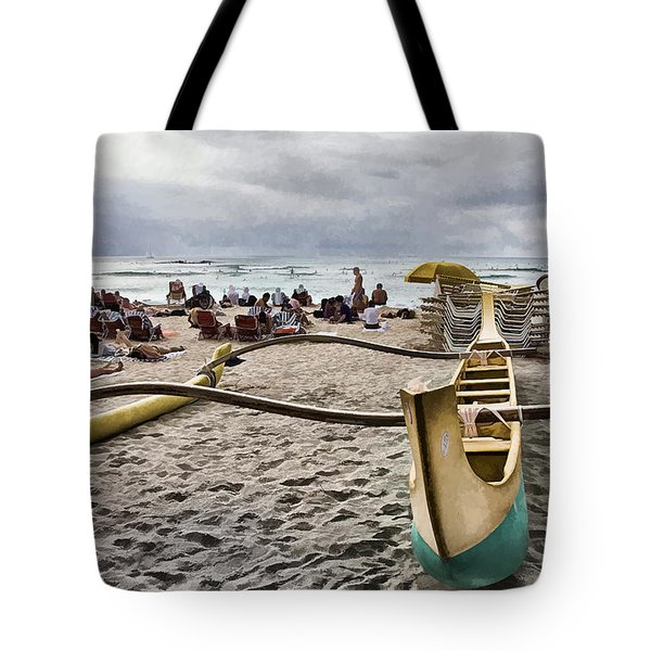 Waikiki Beach Hawaii Tote Bag by Douglas Barnard