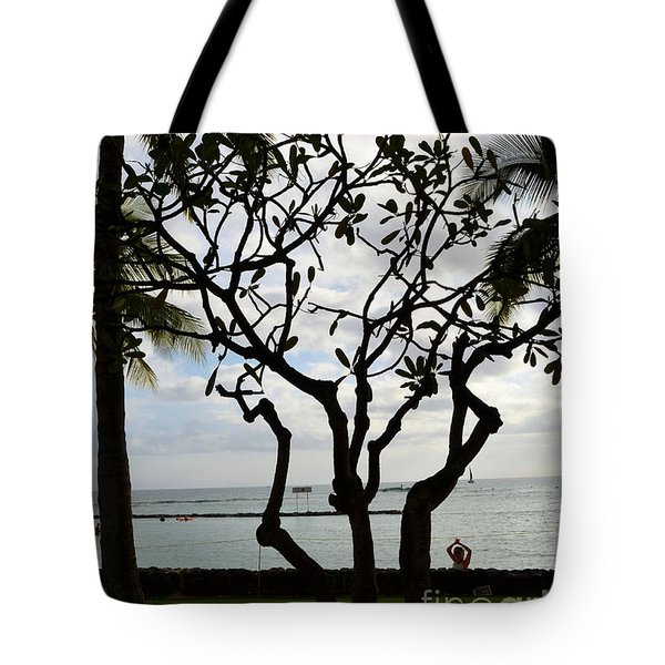 Waikiki Beach Hawaii Tote Bag by Eva Kaufman