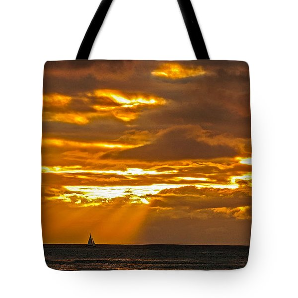 Waikiki Sun Set Tote Bag