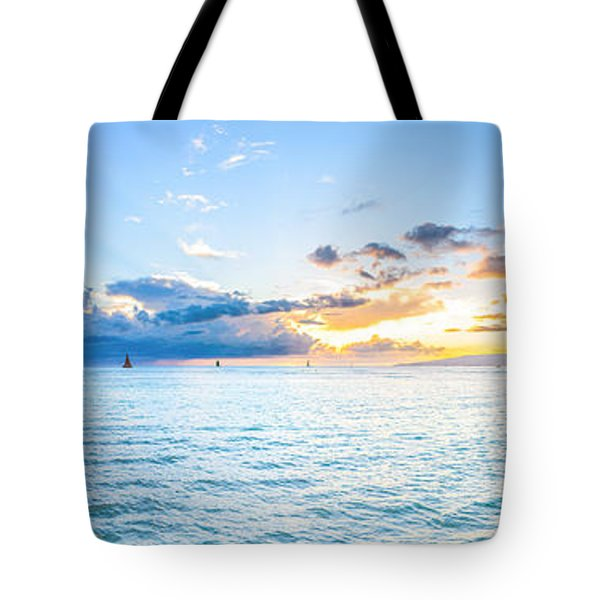 Waikiki Sunset After An Afternoon Thunderstorm Tote Bag