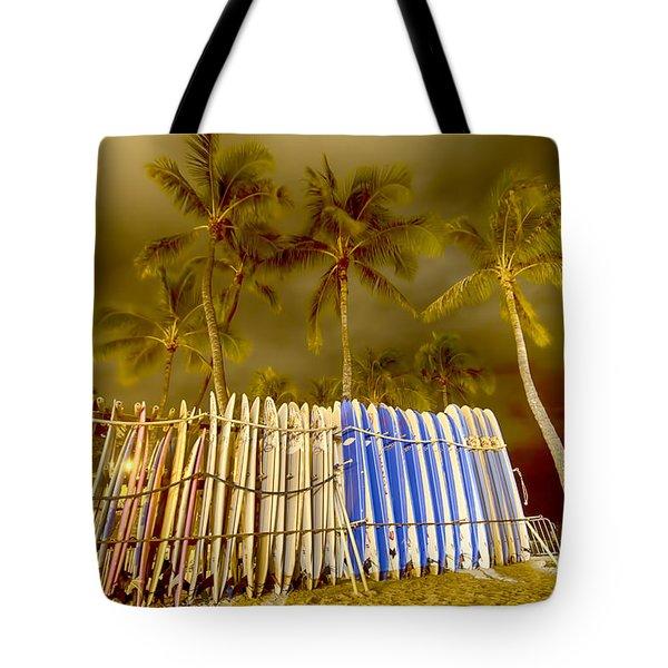 Waikiki Surf Tote Bag by Douglas Barnard
