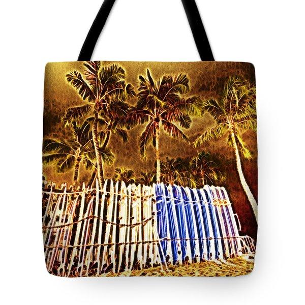 Waikiki Surf- Hawaii Tote Bag by Douglas Barnard