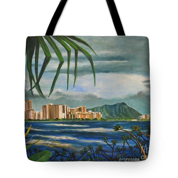 Waikiki View Tote Bag