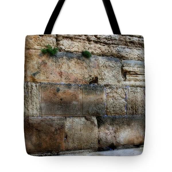 Tote Bag featuring the photograph Wailing Wall In Israel by Doc Braham