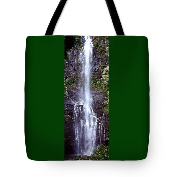 Wailua Falls Maui Hawaii Tote Bag by DJ Florek