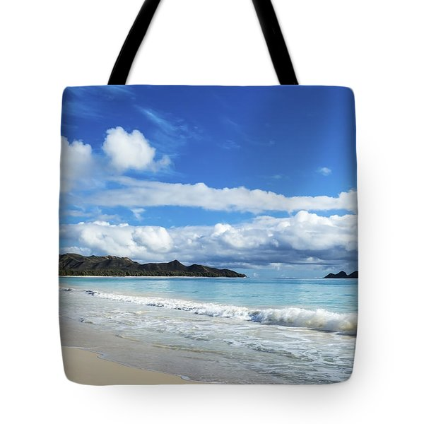 Waimanalo And Bellows Beach 1 Tote Bag by Leigh Anne Meeks