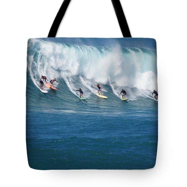 Waimea Bay Crowd Tote Bag
