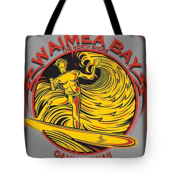 Waimea Bay Oahu Hawaii Surfing Tote Bag