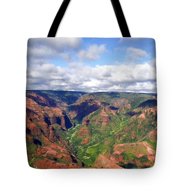 Tote Bag featuring the photograph Waimea Canyon by Amy McDaniel