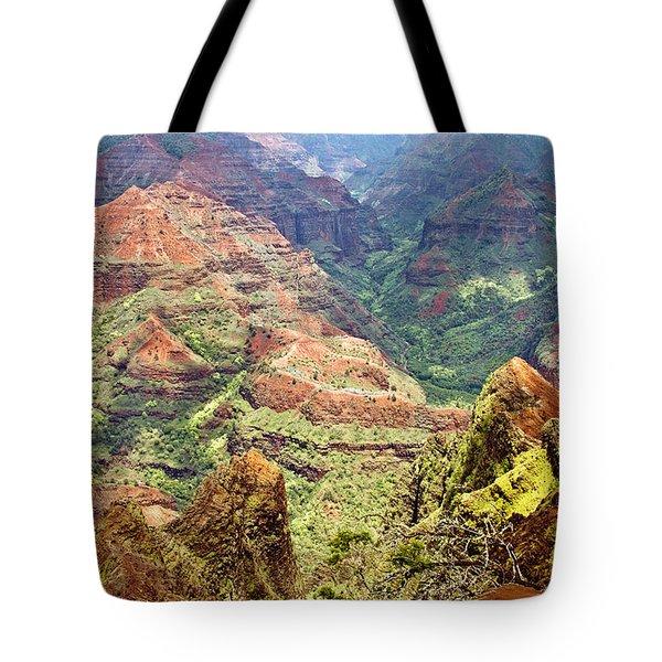 Waimea Canyon Tote Bag by Scott Pellegrin