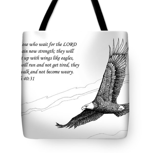 Wait For The Lord Tote Bag by Janet King