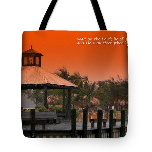 Wait On The Lord Tote Bag