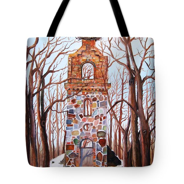 Waiting At Church Ruins  Tote Bag