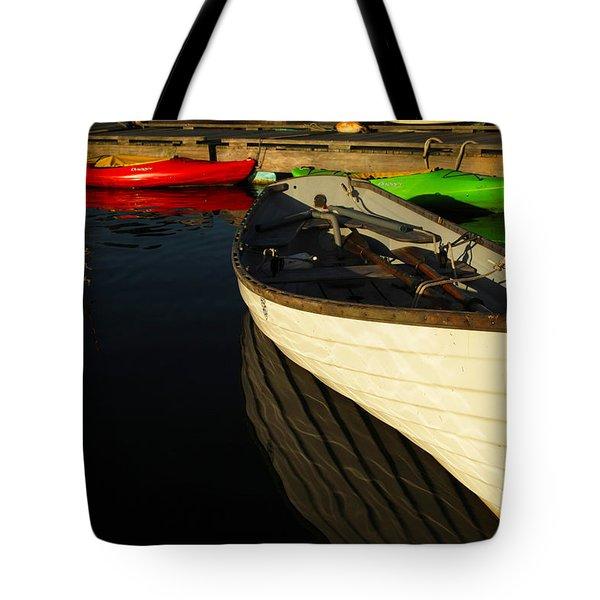Waiting At The Dock Tote Bag by Karol Livote