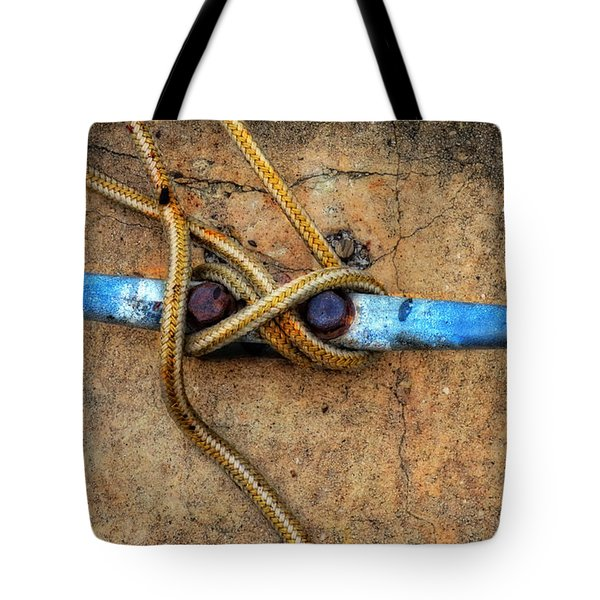 Waiting - Boat Tie Cleat By Sharon Cummings Tote Bag