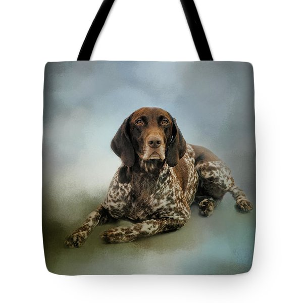 Waiting For A Cue - German Shorthaired Pointer Tote Bag