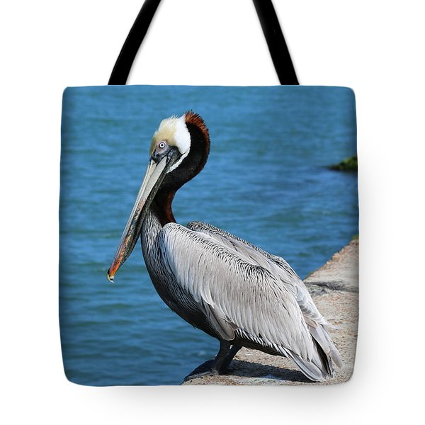 Waiting For A Fish  Tote Bag