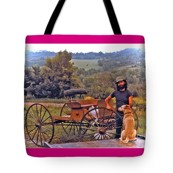 Waiting For A Lift On The Old Buckboard Tote Bag by Patricia Keller
