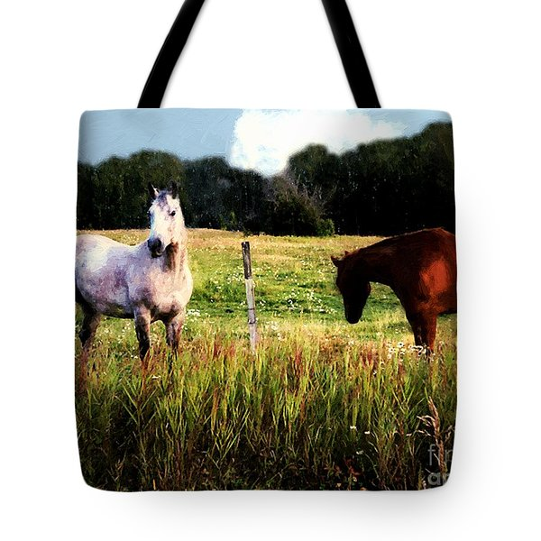 Waiting For Apples Tote Bag