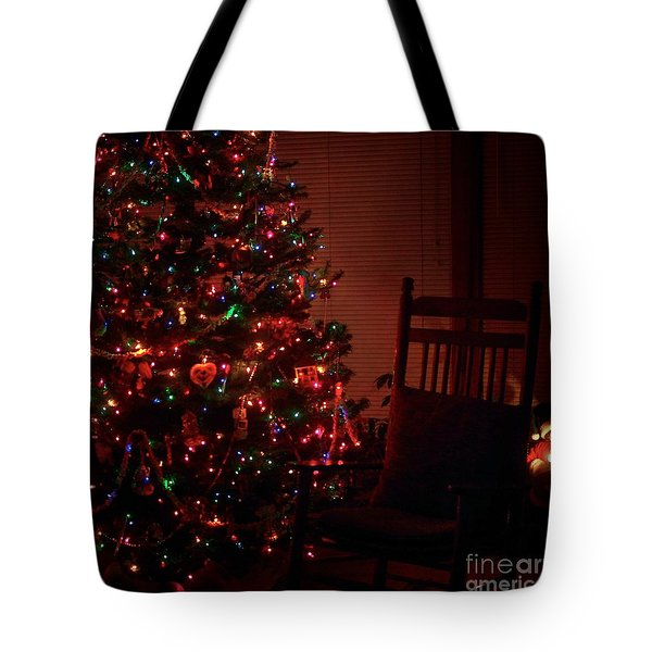 Waiting For Christmas - Square Tote Bag