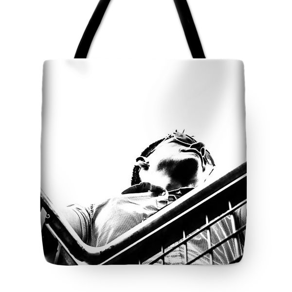 Tote Bag featuring the photograph Waiting For The Future by Stwayne Keubrick