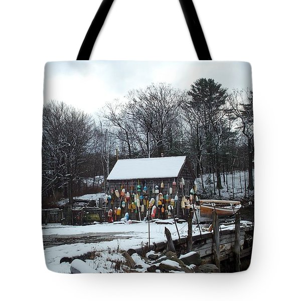 Tote Bag featuring the photograph Waiting For Lobster by Barbara McDevitt